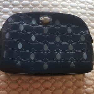 Coach Logo Cosmetic Bag Med w/inside pockets Navy